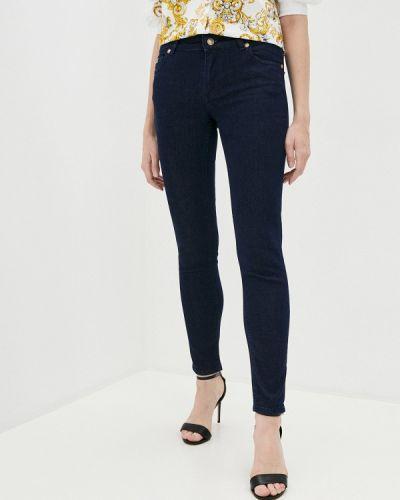 Синие джинсы-скинни узкого кроя Versace Jeans Couture