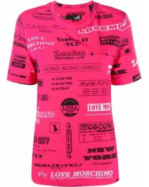 Топ розовый футбольный Love Moschino