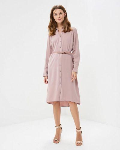 Розовое платье рубашка Zarina