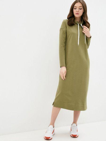 Платье платье-толстовка зеленый Mana
