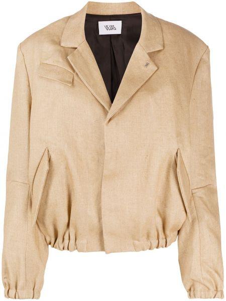 Коричневая куртка с манжетами узкого кроя с карманами Vejas