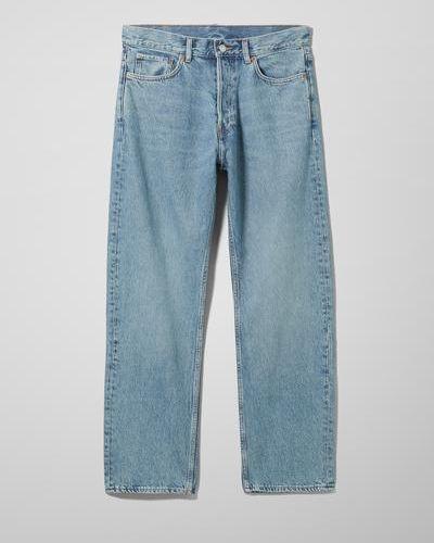 Синие джинсы свободного кроя Weekday