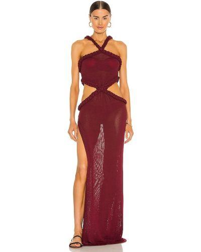 Льняное пляжное красное платье Bronx And Banco