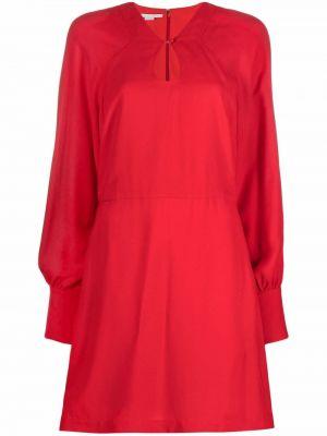 Шелковое платье - красное Stella Mccartney