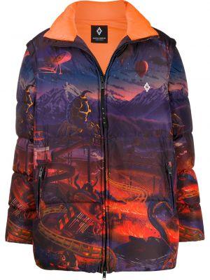 Fioletowa długa kurtka bawełniana z długimi rękawami Marcelo Burlon County Of Milan