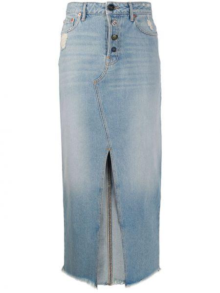 Юбка миди джинсовая с завышенной талией Semicouture