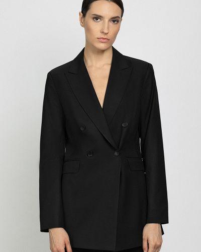 Черный зимний пиджак Vassa&co