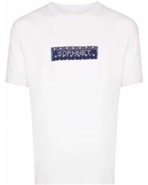 Белая хлопковая футболка Sophnet.
