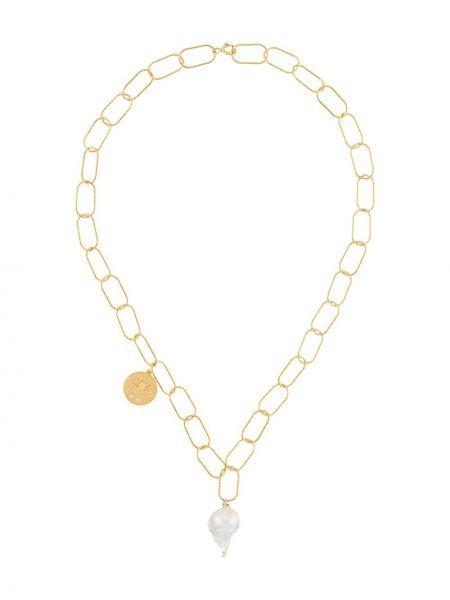 Złoty naszyjnik perły Hermina Athens