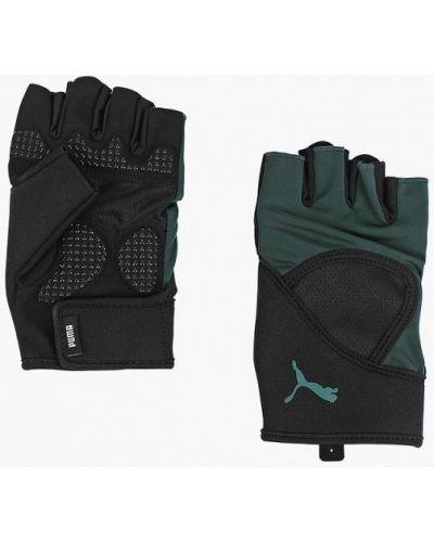 Перчатки зеленый Puma