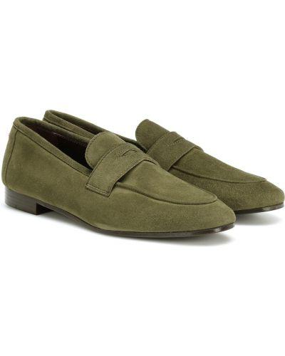 Zielone loafers skorzane Bougeotte