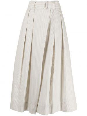 Białe szorty bawełniane z printem Lemaire