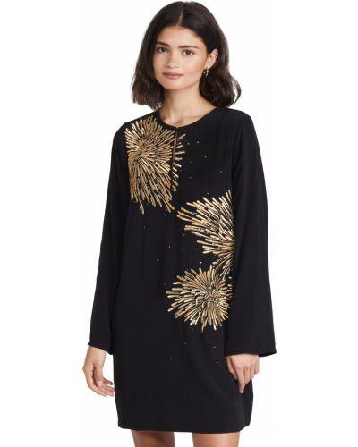 Платье на крючках - черное Figue