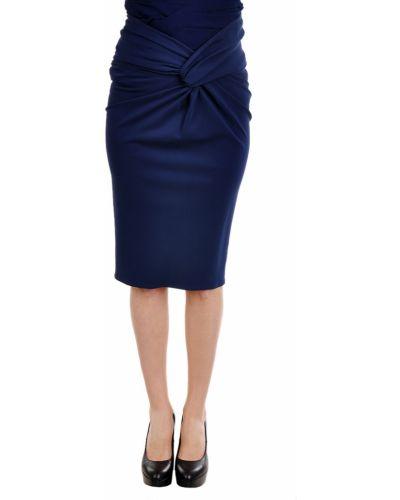 Юбка из вискозы синяя Burberry Prorsum