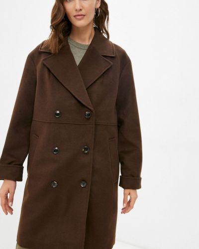 Пальто двубортное - коричневое Trendyangel