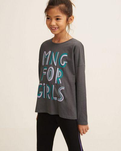 Серая блуза Mango Kids