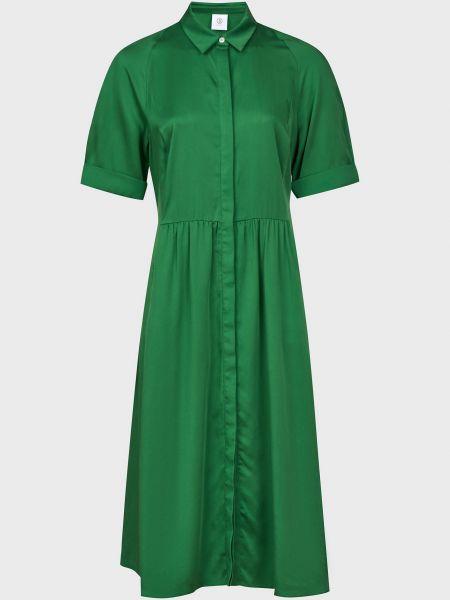 Платье на пуговицах - зеленое Bogner