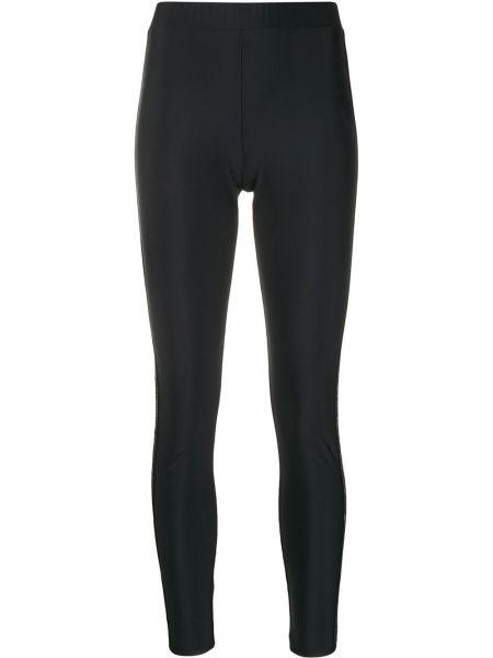 Czarne legginsy z wysokim stanem z haftem Gcds