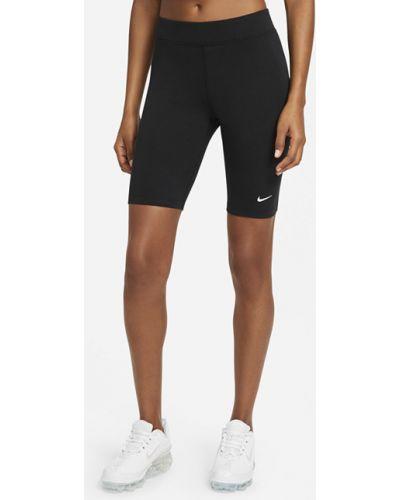 Повседневные черные велосипедки с поясом Nike