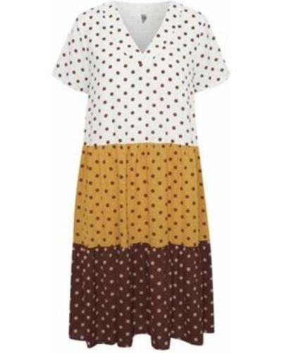 Sukienka midi - brązowa Culture