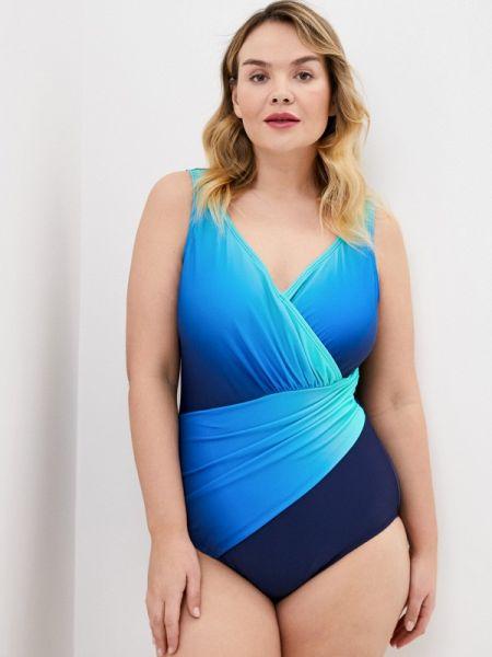 Слитный купальник синий Ulla Popken