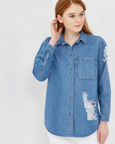 Синяя джинсовая рубашка Topshop