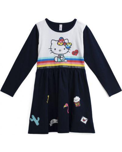 Платье с рукавами хлопковое с надписью Playtoday Kids