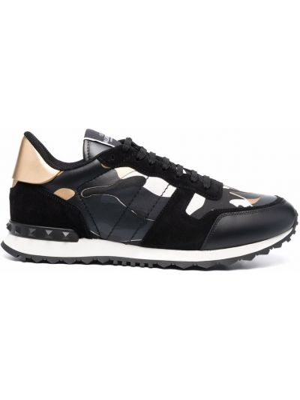 Czarne buty sportowe na obcasie Valentino Garavani