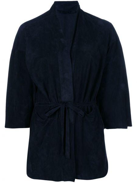 Приталенный синий пиджак Salvatore Santoro