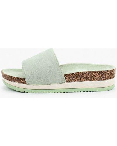 Текстильные зеленые сабо Sweet Shoes