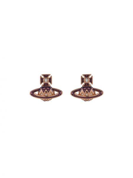 Малиновые серьги-гвоздики Vivienne Westwood