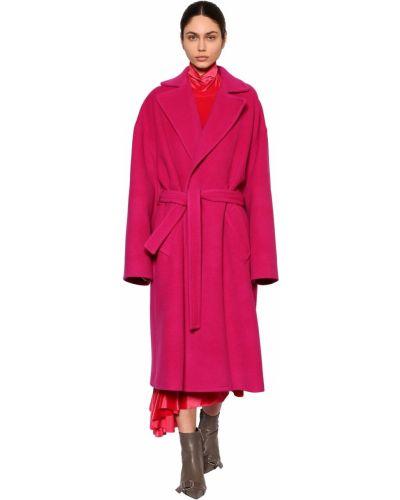 Płaszcz z kieszeniami z paskiem Balenciaga