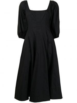 Хлопковое пышное платье с потайной застежкой с вырезом Staud