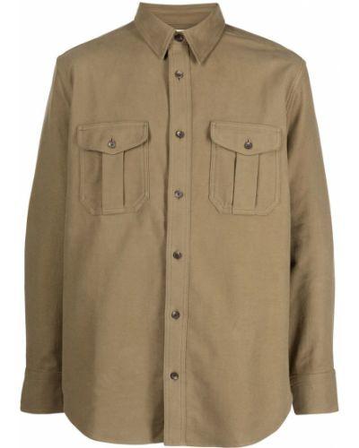 Koszula bawełniana z długimi rękawami khaki Filson