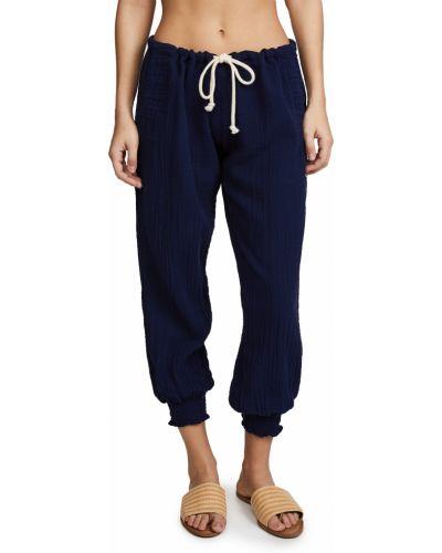 Хлопковые зауженные брюки с карманами 9seed