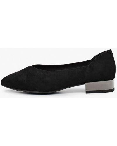 Велюровые черные туфли закрытые Calipso