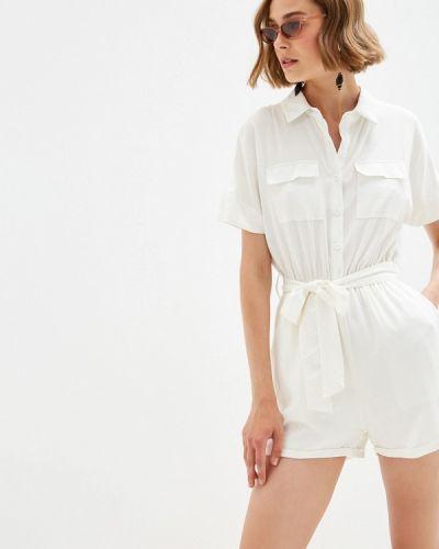 Комбинезон с шортами белый By Swan