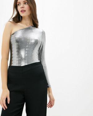 Боди серебряный блуза Befree
