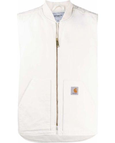 Biała kamizelka bez rękawów bawełniana Carhartt Wip