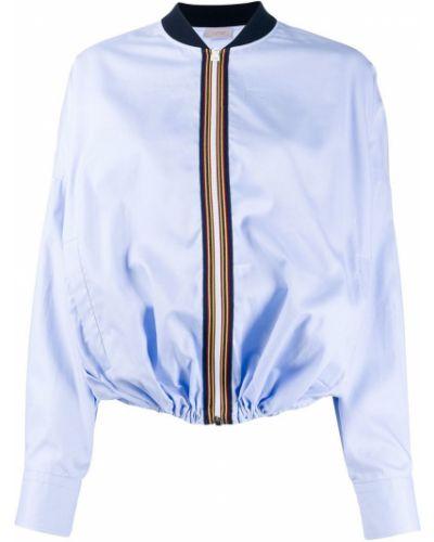 Синяя длинная куртка с манжетами Mrz