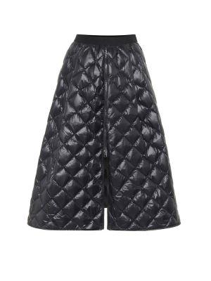 Черная деловая юбка миди в рубчик Moncler