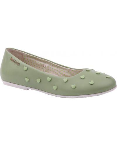 Зеленые туфли Moschino