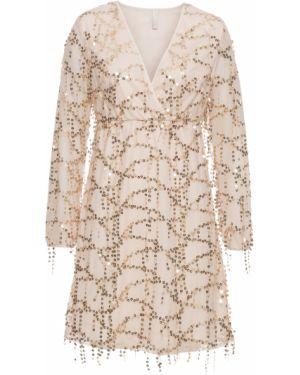 Вечернее платье с пайетками с декольте Bonprix