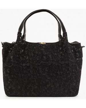 Кожаная сумка с ручками коричневый Valensiy