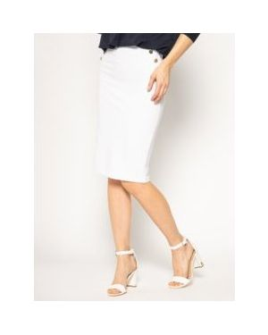 Biała spódnica ołówkowa z wiskozy Guess