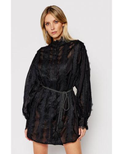 Sukienka koronkowa - czarna One Teaspoon