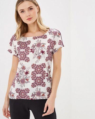Блузка с коротким рукавом белая весенний Sela