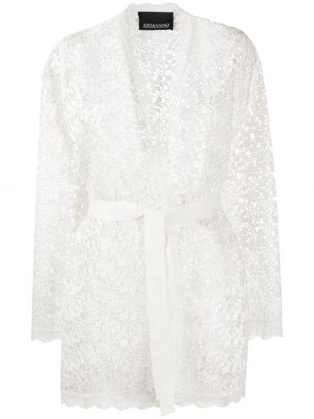 Хлопковый кружевной белый пиджак Ermanno Ermanno