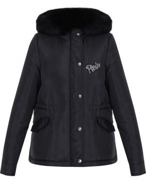 Куртка с капюшоном утепленная черная Philipp Plein