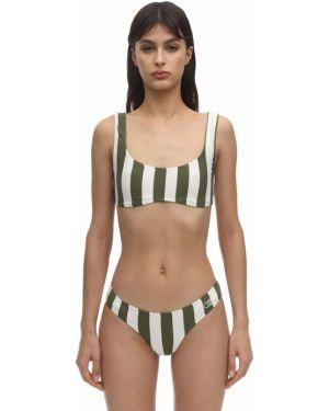 Топ в полоску - зеленый Solid & Striped
